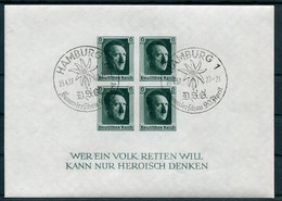 Deutsches Reich - Michel Block 8 SoStpl Hamburg DSG - Blocks & Sheetlets