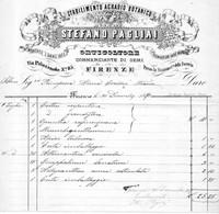 1880 FIRENZE - STABILIMENTO AGRARIO BOTANICO - ORTICOLTORE, COMMERCIANTE DI SEMI - Italië