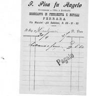 1897 FERRARA - VETRERIA, FERRAMENTA - Italië