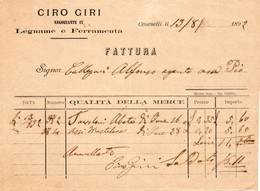 1892  CENESELLI, LEGNAME E FERRAMENTA - Italië