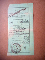 RECEPISSE DE MANDAT1895 REGENCE DE TUNIS - Covers & Documents