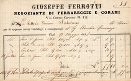 1883 TODI , GIUSEPPE FERROTTI , NEGOZIANTE DI FERRARECCIE E CORAMI - Italië