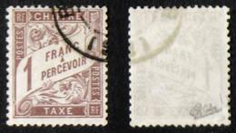 N° TAXE 25 1F MARRON B/TB Cote 125€ - 1859-1955 Gebraucht