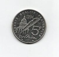 "Francia - 1994 - 5 Franchi "" Voltaire "" - (FDC27821) - J. 5 Franchi"