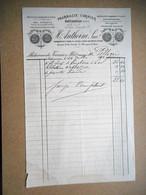 FACTURE Datée 1892 PHARMACIE CORMIER A CHATEAUROUX - 1800 – 1899