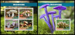SIERRA LEONE 2020 - Mushrooms. M/S + S/S Official Issue [SRL200640] - Champignons