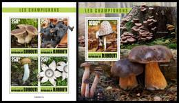 DJIBOUTI 2020 - Mushrooms, M/S + S/S. Official Issue [DJB200417] - Champignons