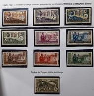 AEF 1940/41 Série N° 92 à 101** TTB - Unused Stamps