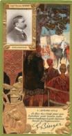 CHROMO LEFEVRE UTILE LU  CELEBRITES  LIEUTENANT COLONEL BINGER EXPLORATEUR ART NOUVEAU 17 X 9 CM GAUFREE RELIEF - Lu