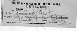 1912 MILANO , RIVARA EDITORE , GUIDA - ORARIO - RECLAME - Italië