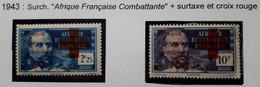 AEF 1940 Série N° 165/166* - Unused Stamps
