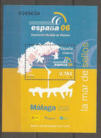 ESPAGNE 2006 - BF N° 148 ** MNH 0,78€  Exposition Malaga  Cote 2,75 Euro TBE - Blocs & Hojas