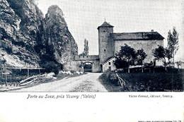 [DC12382] CPA - SVIZZERA - PORTE AU SCEX PRES VOUVRY - Non Viaggiata - Old Postcard - VS Valais