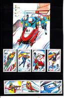 Olympics 1992 - Ice Hockey - MONGOLIA - S/S+Set MNH - Invierno 1992: Albertville