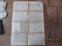 L'AVENIR GUISE 23 RUE ANDRE GODIN DU 21 JANVIER 1945 GUISE,VADENCOURT,MARLY GOMONT,RIBEMONT..........VARSOVIE EST TOMBEE - Picardie - Nord-Pas-de-Calais