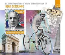 2020-10- TOGO- HENRI DESGRANGE      1V      MNH** - Cyclisme