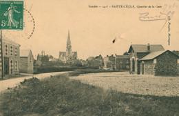 CPA Saint-Cécile - Quartier De La Gare- Circulée - Otros Municipios