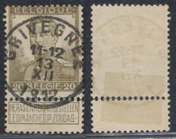 """Pellens - N°112 Obl Simple Cercle """"Grivegnée"""" - 1912 Pellens"""
