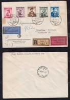 Österreich Austria 1951 Registered EXPRESS Airmail Cover LINZ To HÖNEFOSS Norway Via Zürich - 1945-60 Storia Postale