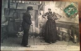 """CPA De 1911, Occitan - Patois, Folklore, Couple, Coiffes, En Périgord, (24) """"le Médecin...lou Médeci.."""" éd Hirondelle 55 - Non Classés"""