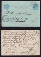 Netherlands 1881 Stationery Postcard ROTTERDAM BEURS To NYBORG Denmark Via St PETERSBURG Russia - Brieven En Documenten