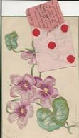 Carte Postale Ancienne Fantaisie - Gaufrée - Fleurs Envoyé A René HABERT Musicien De La Fanfare De NESLES LA VALLEE - Other