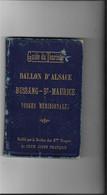 88 BUSSANG ST MAURICE BALLON D ALSACE CLUB ALPIN FRANCAIS CARTE - Lorraine - Vosges