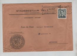REF3086/ TP 924 Baudouin Lunettes S/L. Stadbestuur Tielt C.Tielt 30/4/63 + Flamme > Antwerpen - Lettres & Documents