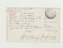 CARTOLINA QUO VADIS - POSTA MILITARE 4 DIVISIONE CAVALLERIA DEL 1 LUGLIO 1916 VIAGGIATA VERSO PROVINCIA DI PAVIA WW1 - Weltkrieg 1914-18