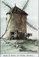 ► 1937 - MUZILLAC (Morbihan) - Moulin à Vent De Banalan Et Son Meunier   - Coupure De Presse (Encadré Photo) - Documentos Históricos