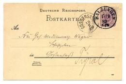 Deutsche Reichspost, Salzungen 1889 Nach Gossensass, Südtirol - Stamped Stationery