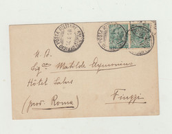 CARTOLINA POSTA MILITARE UFFICIO CAVALLERIA DEL 1918 VAGGIATA VERSO FIUGGI -WW1 - Weltkrieg 1914-18