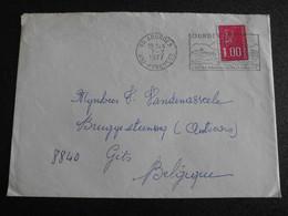 Frankrijk France 1977 - Envelope Lourdes - Centre Mondial De Pelerinages - Storia Postale