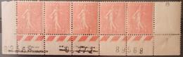 France/French Stamp 1924-32 N°199 Semeuse Lignée CdF Avec Triple Numérotation  * TB - Ongebruikt