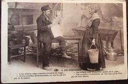 """CPA 1932, Occitan, Folklore, Couple, Tenues, Coiffes, En Périgord, (24) """"les Savants...Lous Sabents..."""" éd Hirondelle 6 - Non Classés"""