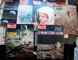 AEROSPATIALE  CONQUETE DE LA LUNE  FUSEE PARIS MATCH  6 N° SPECIAUX SUR LA LUNE 1969 NOMBREUSES PHOTOS BON ETAT - Ohne Zuordnung