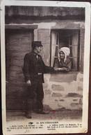 """CPA 1932, Occitan, Folklore, Couple, Tenues, Coiffes, En Périgord, (24) """"Adiu Lucio...Adieu Lucie..."""" éd Hirondelle 28 - Non Classés"""