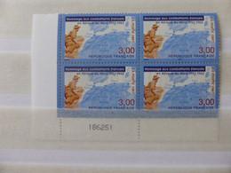 France.bloc De 4 Numéroté Du N° 3072 Hommage Aux Combattants D'afrique Du Nord N**. - Unused Stamps