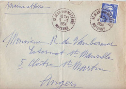 St Jean Sur Mayenne - Mayenne - 53 - Oblitération Type B7 Perlé - 1921-1960: Moderne