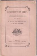 Malines (Anvers) Belgique LA CONSTITUTION BELGE Et L' Encyclique De Grégoire XVI Par L' Achevêque De Malines E.O. - Bélgica