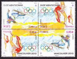 France N° 4436 P ** X2 -> Jeux Olympiques De VANCOUVER - Ski - Patin à Glace - Danse - Ongebruikt
