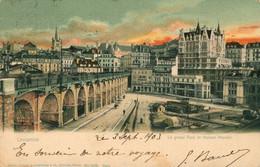 CPA Lausanne - Le Grand Pont Et Maison Mercier-  Circulée 1903 - Colorisée - Animée - VD Vaud