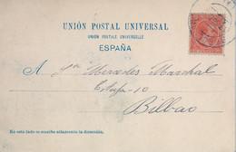 1900 , BARCELONA , T.P. CIRCULADA , DETALLE DEL PUERTO , ALFONSO XIII PELÓN 10 CTS. , ED. 218 - Cartas