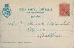 1900 , BARCELONA , T.P. CIRCULADA , MONUMENTO DE GÜELL Y FERRER , ALFONSO XIII PELÓN 10 CTS. , ED. 218 - Cartas