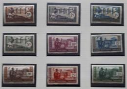 PMo - AEF 1941 Série N° 156 à 164* (cote30) - Unused Stamps