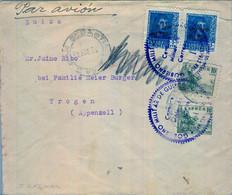 1939 GUIPÚZCOA , SAN SEBASTIAN - TROGEN , FECHADOR CON ERROR ( 30 ENE 36 ) , CENSURA MILITAR , TRÁNSITO CERT. SALAMANCA - 1931-50 Cartas