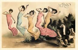Art Nouveau -  Femmes - 2 Cartes - Le Rêve - Vrouwen