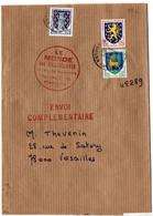 Blason Niort, Guéret Et Nevers Sur Bande-journal 'Envoi Complémentaire' Du 30.6.1976 Au Tarif De 18c - 1961-....