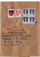 Blason Niort, Auch Et Saint Lo Sur Bande-journal 'Envoi Complémentaire' Du 29.10.1976 Au Tarif De 29c - 1961-....