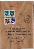 Blason Guéret, Troyes Et Nevers Sur Bande-journal 'Envoi Complémentaire' Du 13.12.1976 Au Tarif De 29c - 1961-....